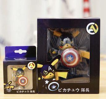 竉物小精靈 比卡超 美國隊長 q版擺件同鎖匙扣