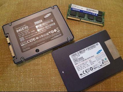 SSD 512GB Storage for Laptop Samsung Evo 250gb 8GB Ram DDR3L memory