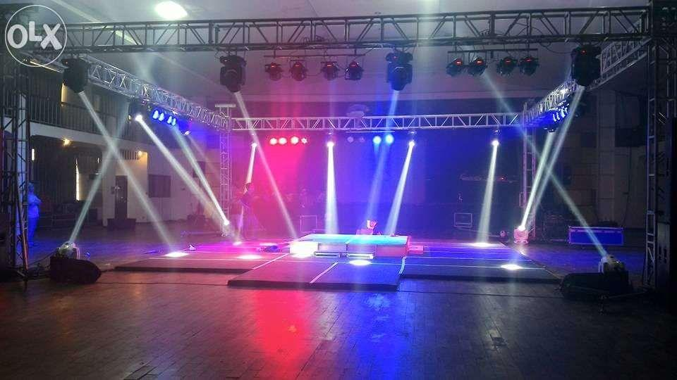 Lights and Sounds Stage LED Wall Live Feed Sound System