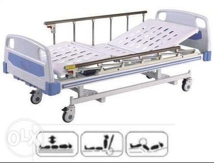 Hospital Bed 3 Cranks Manual with plastic lever cranks
