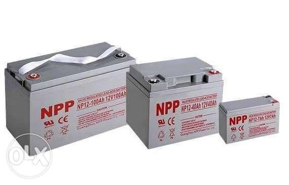 NPP Deep Cycle Batteries for Solar Ebike at UPS on Carousell