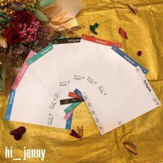 自產自銷👍最新版本✨Instagram造型卡片 IG卡 明信卡 名片卡 畢業卡 生日卡 - 1種顏色1張$5