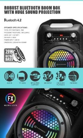 Audiobox BBX600 BBX 600 Portable Bluetooth Speaker Free Wireless Mic  RM95.00  Model: Genuine AudioBox BBX600 TWS
