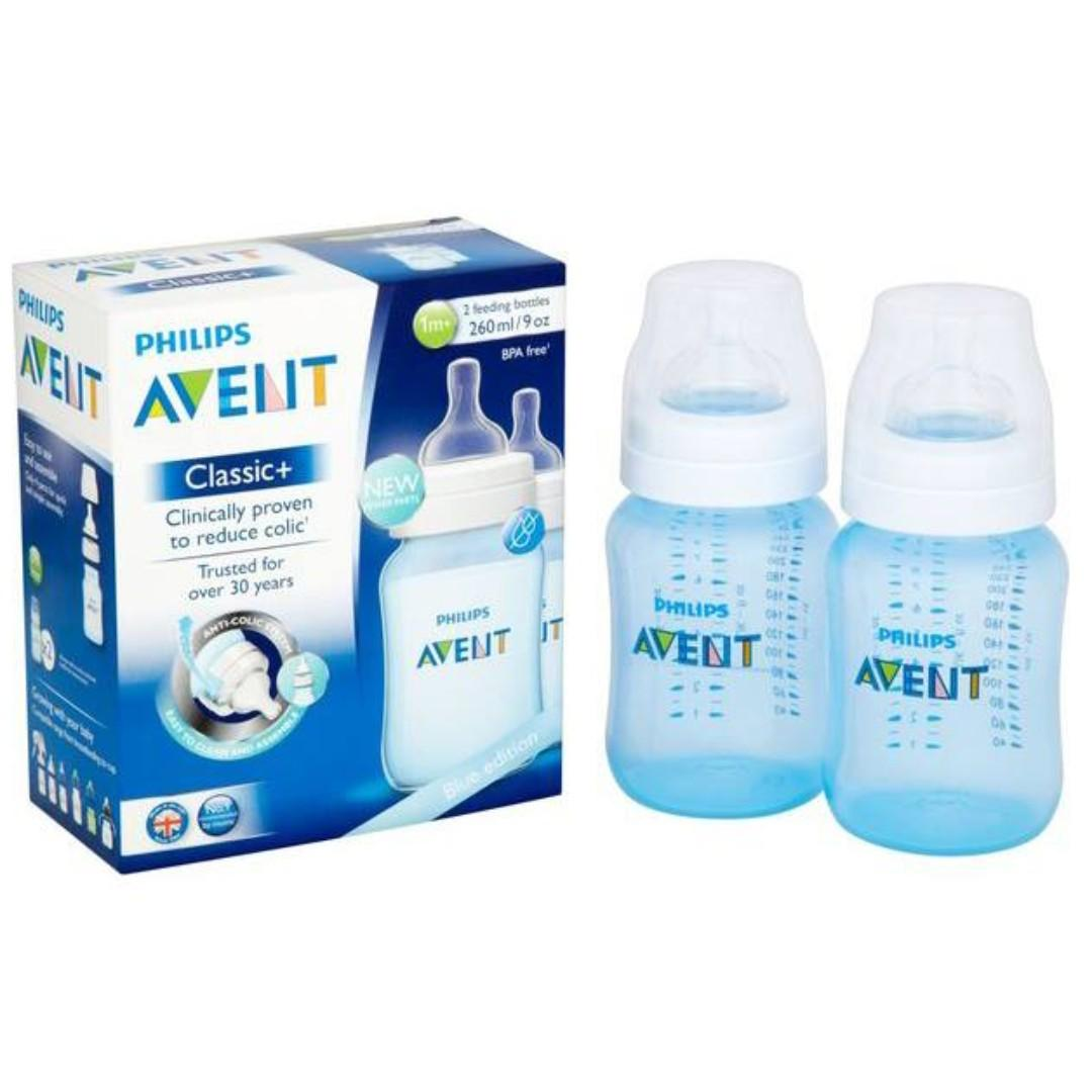 Avent Anti-colic Milk Bottles Pink or blue, 9oz, pack of 2 ($230 for two boxes)
