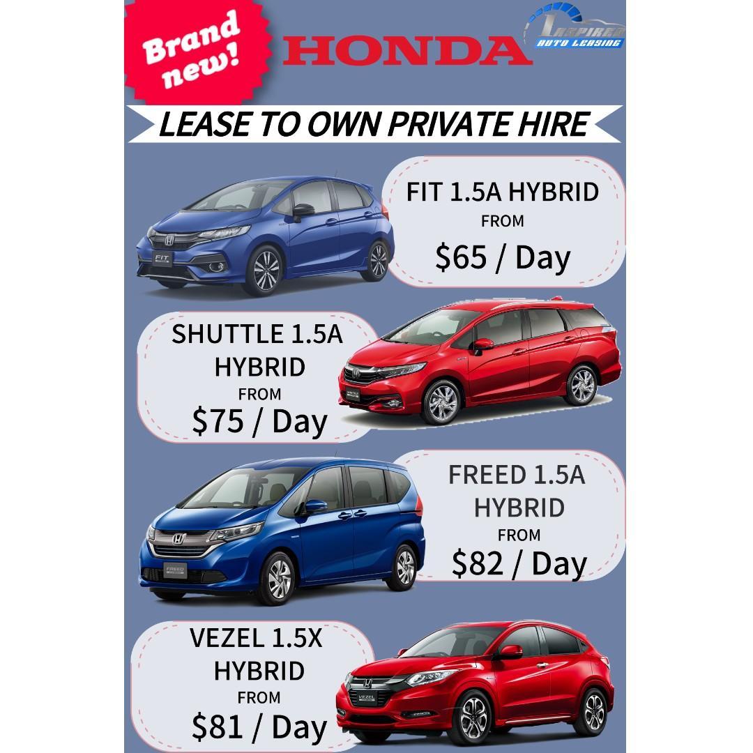 Brand New HONDA Model Lease To Own