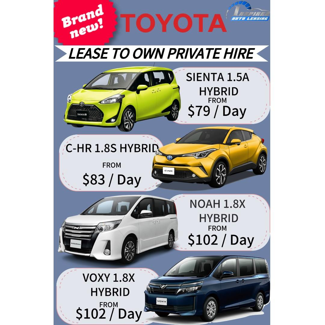 Brand New TOYOTA Model Lease To Own