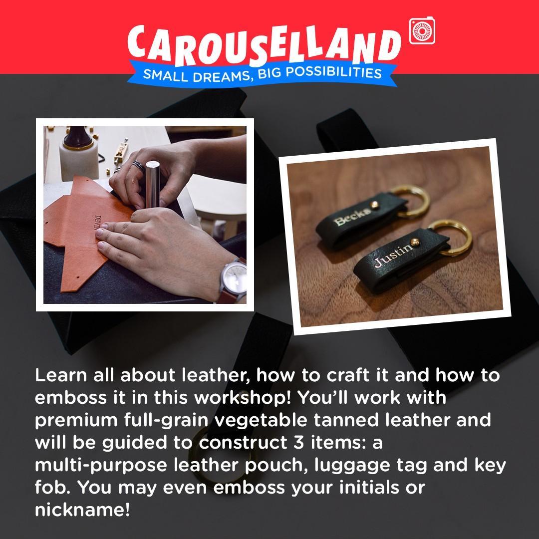 Basic Leather Crafting Workshop at Carouselland 2019