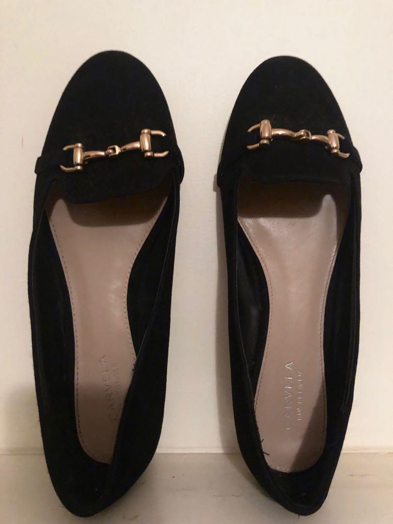 Carvela by Kurt Geiger Women's black Mingle Suede Flats size 40/9