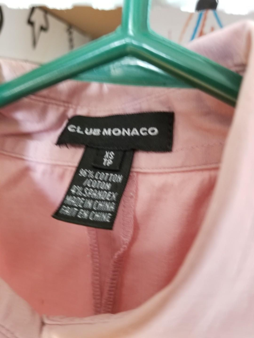 Club Monaco womens dress shirt work clothes. Size xs. Pick up 20 Bay or  Gerrard and main or Yorkville. Selling for $10. Excellent condition. This will land you that role. Retails for $90