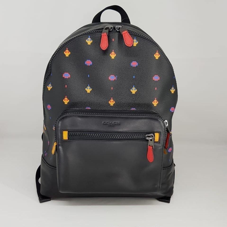Coach west backpack allover atari print black F72916 sz 32x40x16