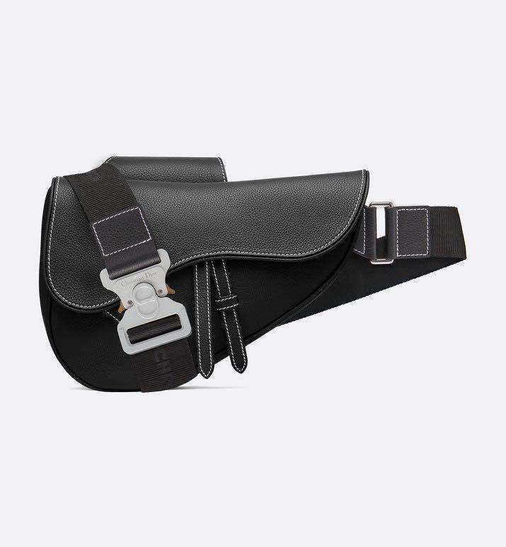 9e9cd6d6 DIOR x KIM JONES SADDLE BAG IN BLACK, Men's Fashion, Bags & Wallets ...