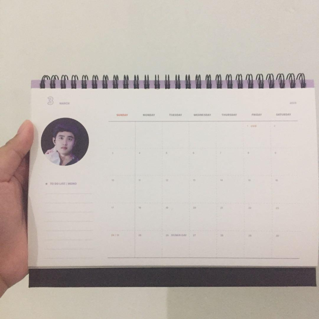 EXO D.O Fansite Official 2019 Calendar + Keyring Set