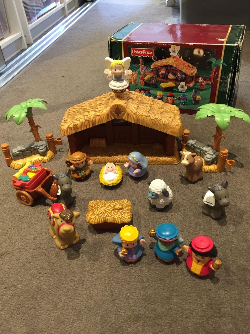 Fisher price little people christmas story nativity set rare Sydney