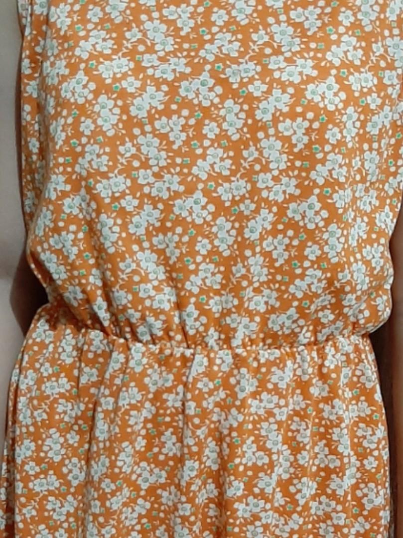Flower Dress Flora Orange