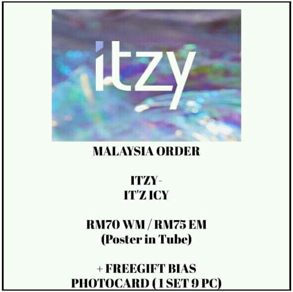 ITZY - IT'Z ICY - PREORDER/NORMAL ORDER/GROUP ORDER/GO + FREE GIFT BIAS PHOTOCARDS (1 ALBUM GET 1 SET PC, 1 SET HAS 9 PC)