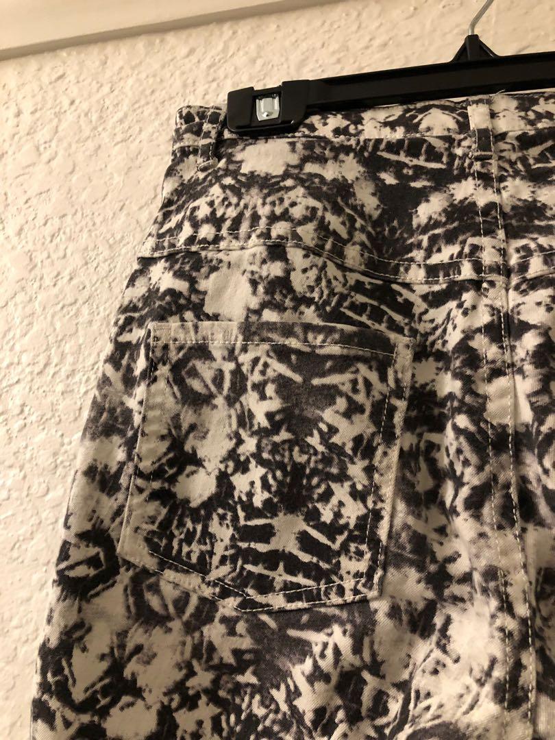 Kookai patterned skinny jeans pants - size 36 (AUS 8)