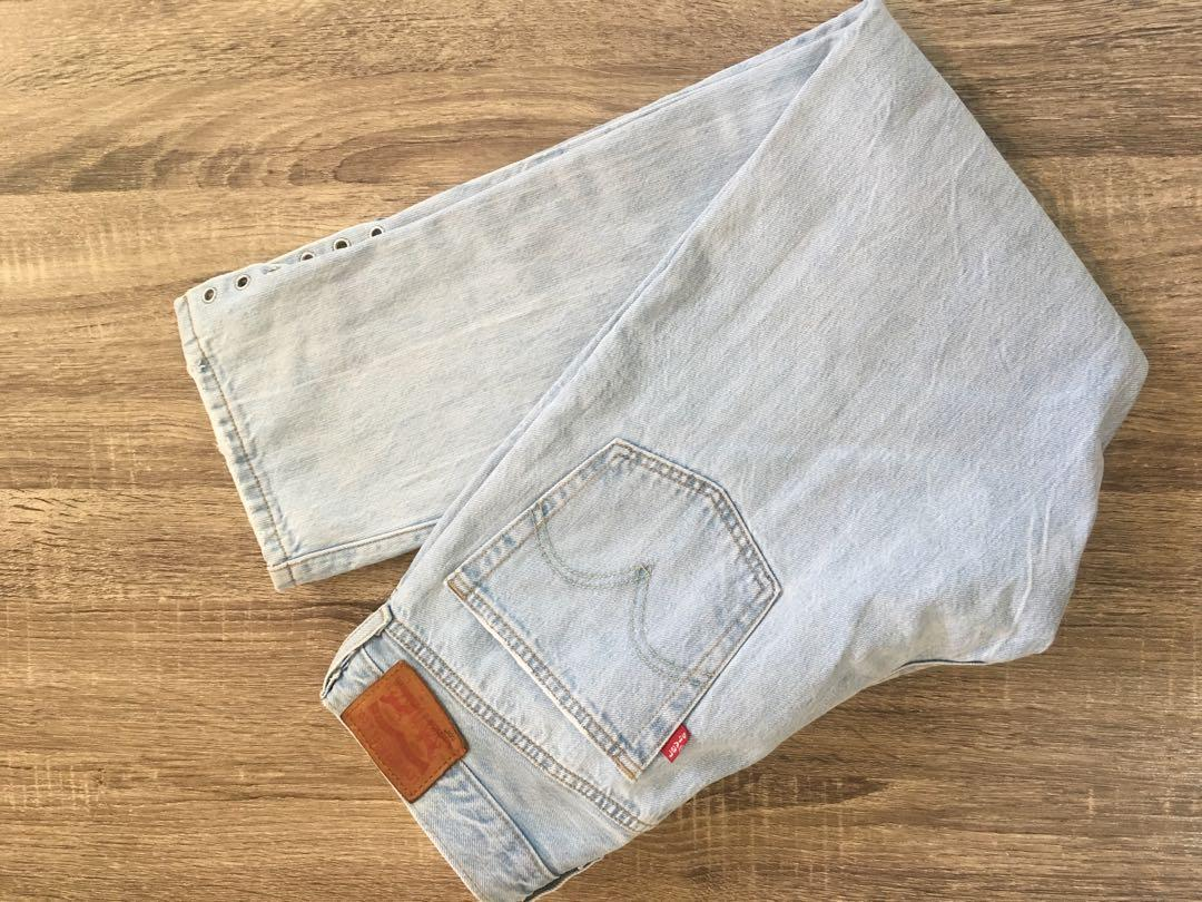 Levi's 501 light wash cropped jeansFrom freethepeople