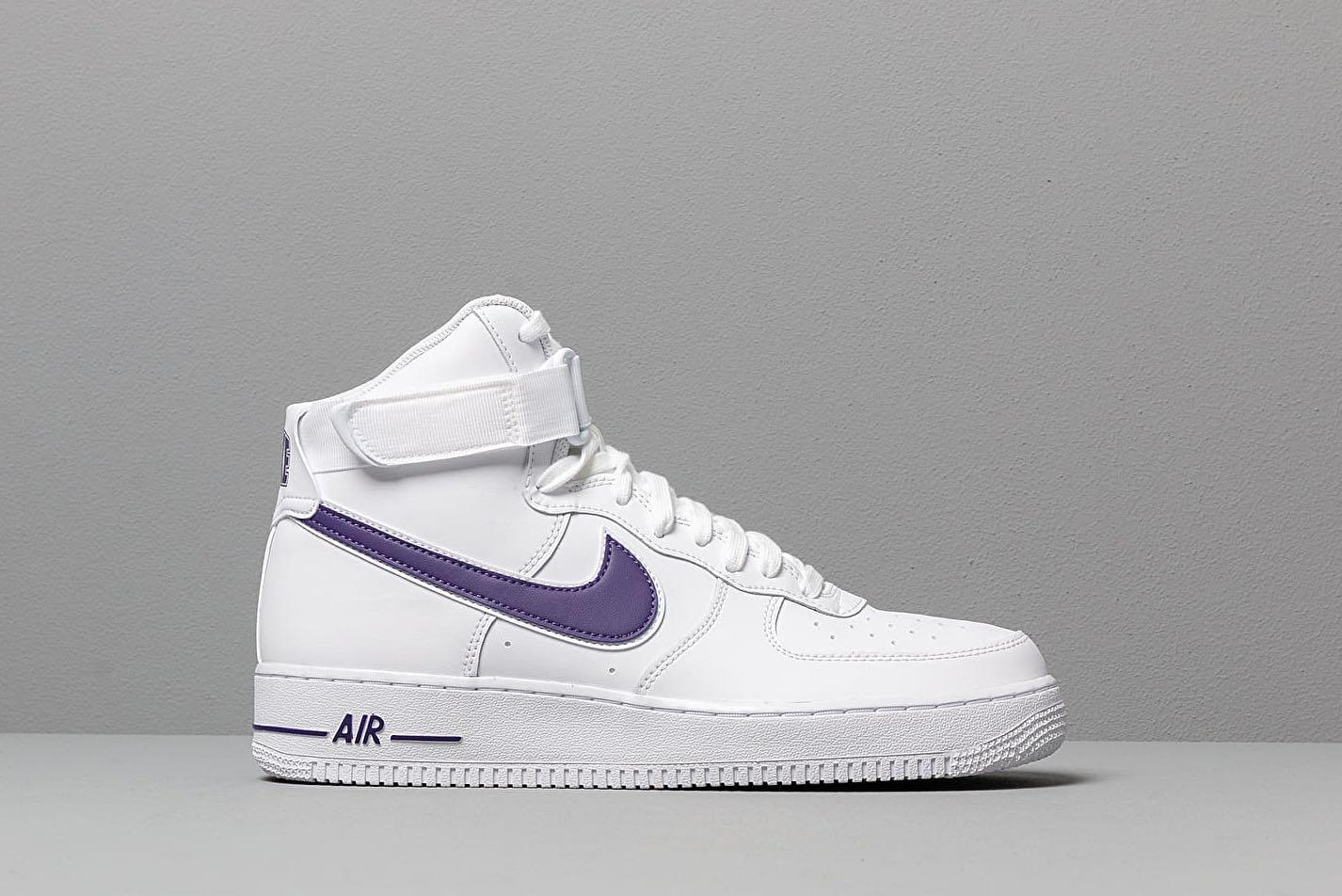 Nike Air Force 1 white with purple