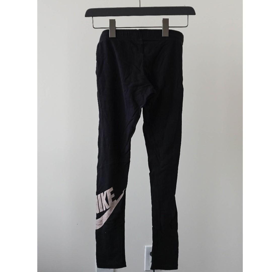 Nike pro black legging with printed logo on the side and logo waistband (s)
