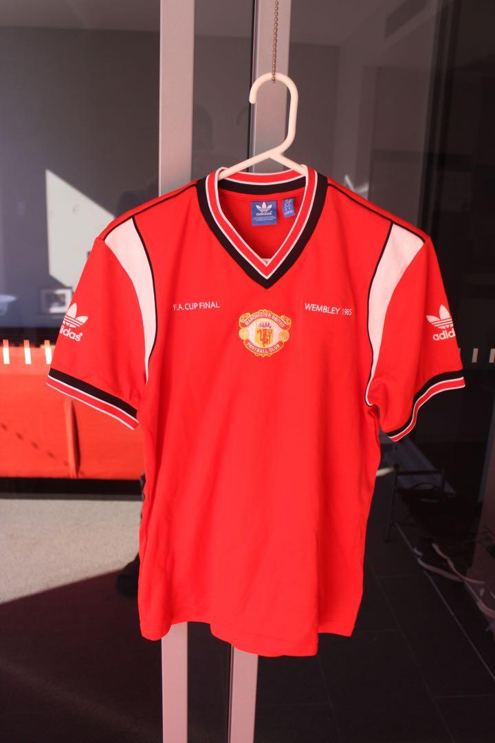 Official Vintage Manchester United Adidas 1985 FA Cup Final Jersey