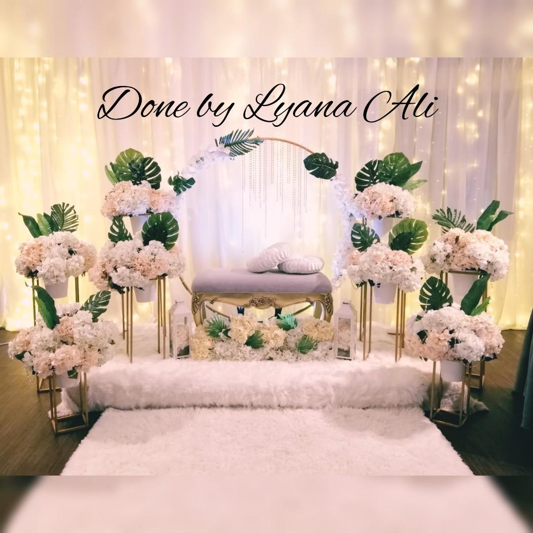 Pelamin Wedding Decoration Rom Setup Wedding Backdrop
