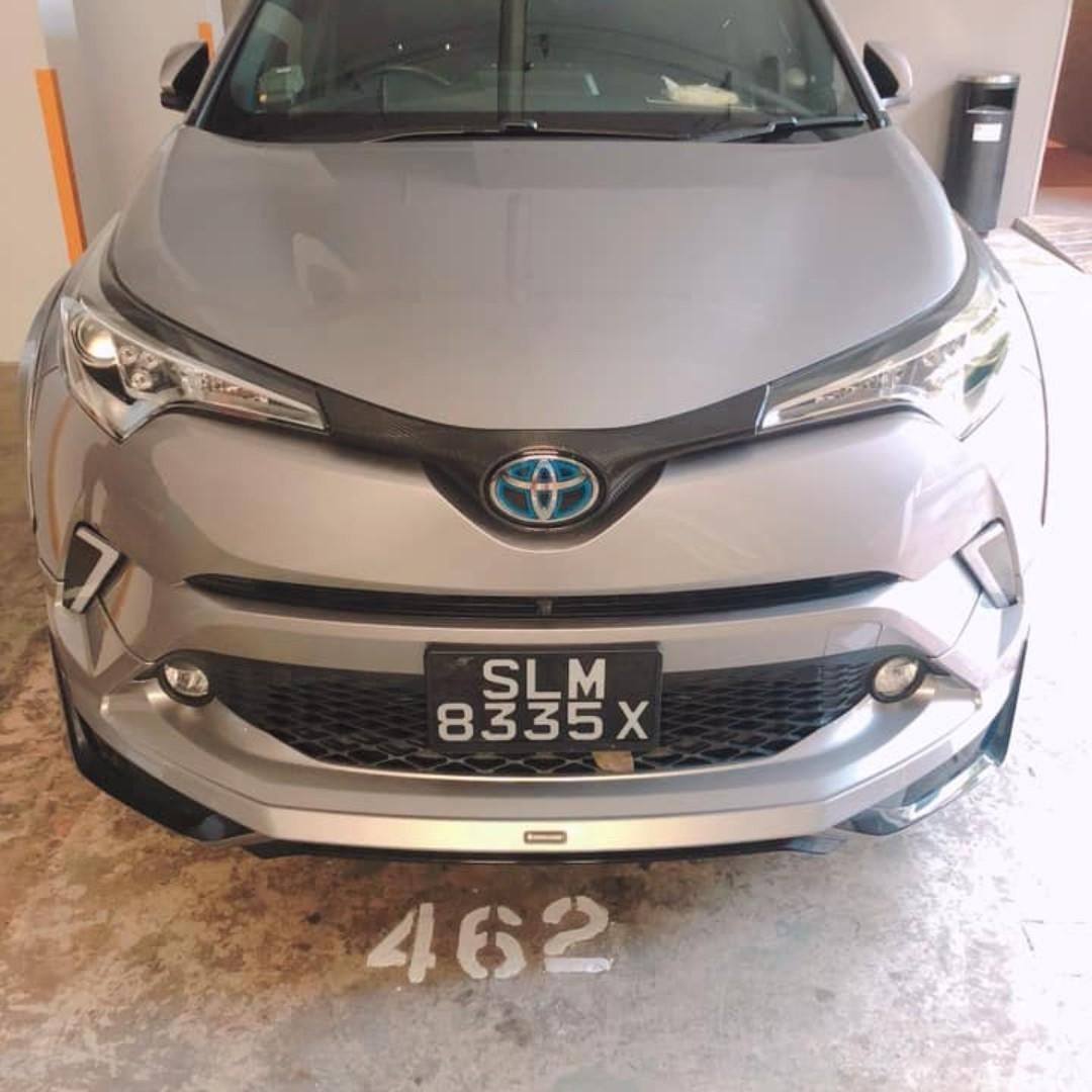 Sporty Toyota CHR car for grab and gojeck