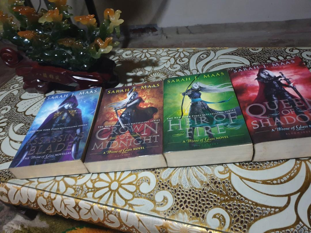 Throne of Glass series (The Assassin's Blade, Crown of Midnight, Heir of Fire, Queen of shadows only)+ Kingdom of Ash (Barnes and Nobles edition)