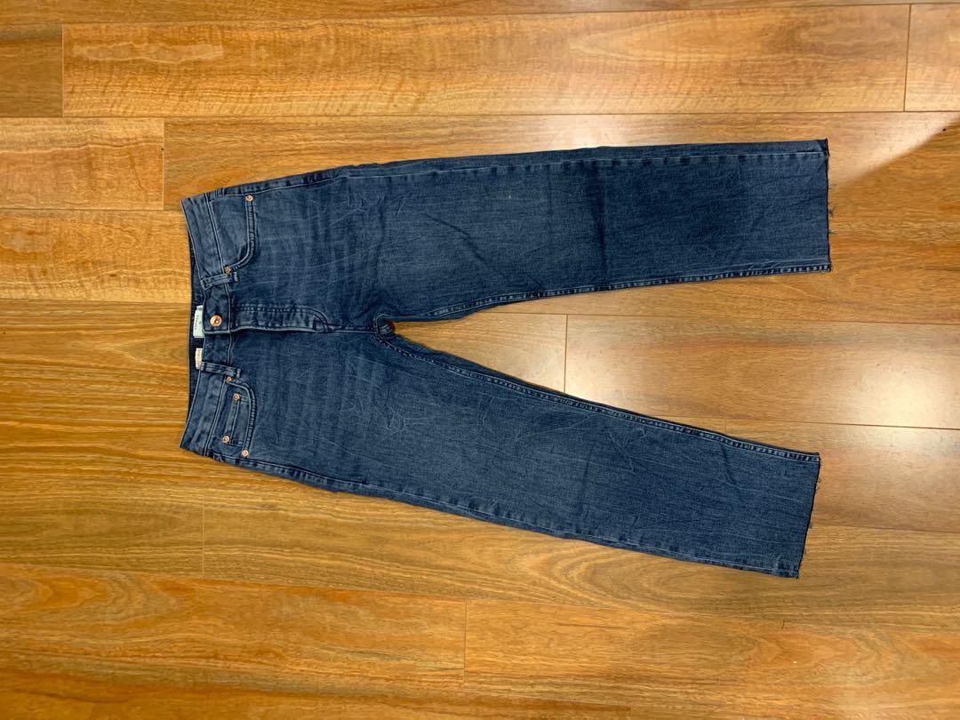 Topman Cropped Standard Stonewashed Jean's