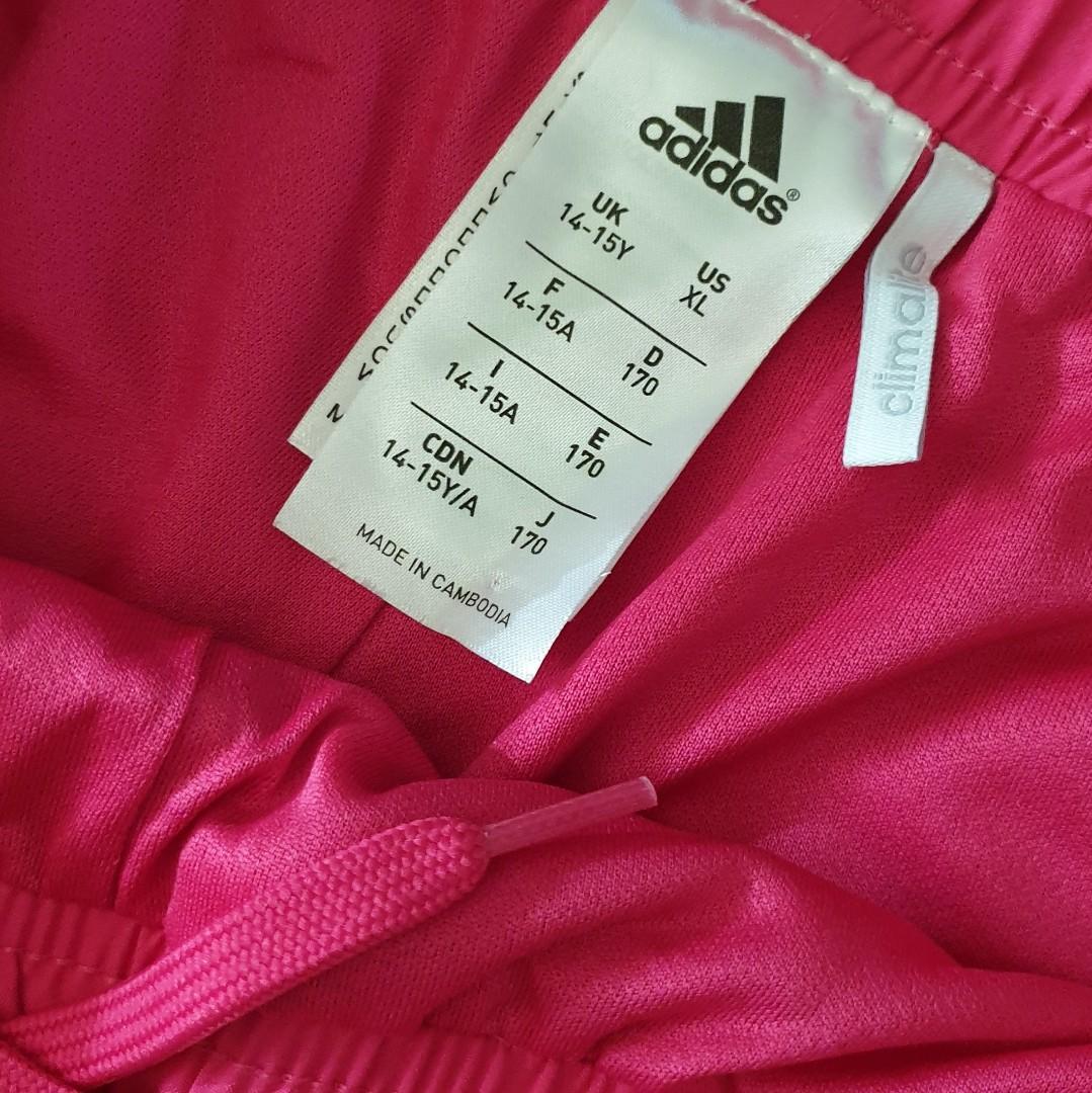Women's size M 'ADIDAS' Gorgeous fuschia pink climalite shorts - AS NEW