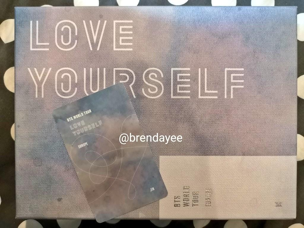 "[WTT] BTS WORLD TOUR ""LOVE YOURSELF"" EUROPE DVD photocard"