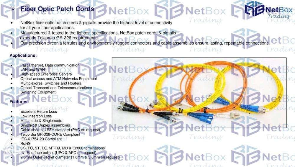 Netbox Media Converters Equipment Cabinets Cat6 cable Fiber Optic on