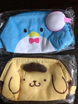 Sanrio cosmetic bag 公仔造型化妝袋