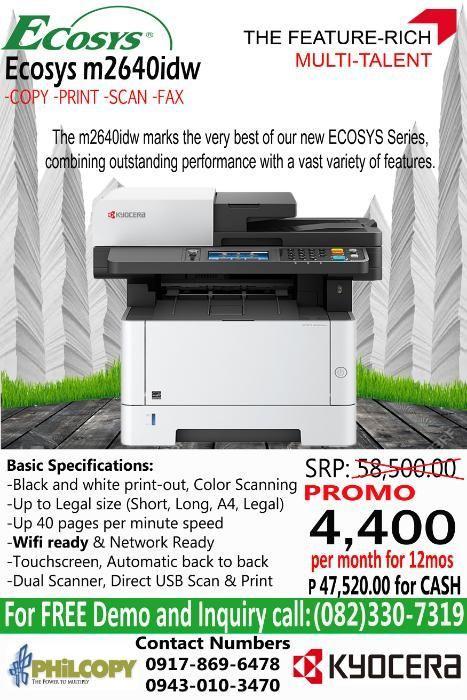 DAVAO Wifi Ready Printer Photocopier Scanner Fax Kyocera