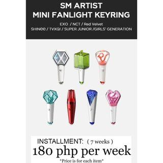 ( HULUGAN ) SM ARTIST OFFICIAL MINI LIGHTSTICK's  / KEYRING