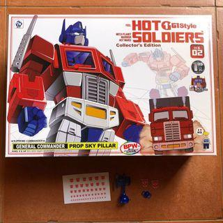 Transformers Hot Soldiers - HS-02 Optimus Prime (MISB) plus Free Additional Accessories (refer 4th photo) & Free Auto Decal Sticker Sheet