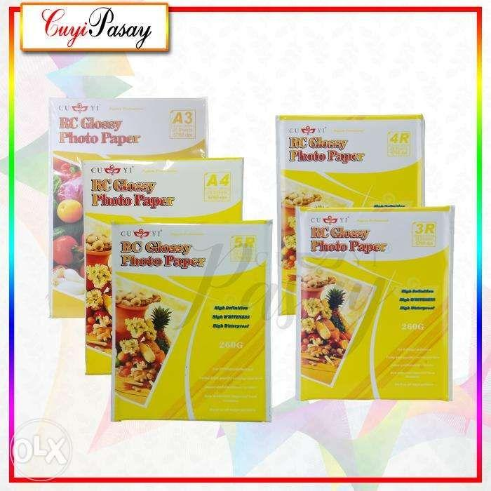 Cuyi RC GLOSSY 260 GSM Photo Paper A3 A4 3R 4R 5R on Carousell
