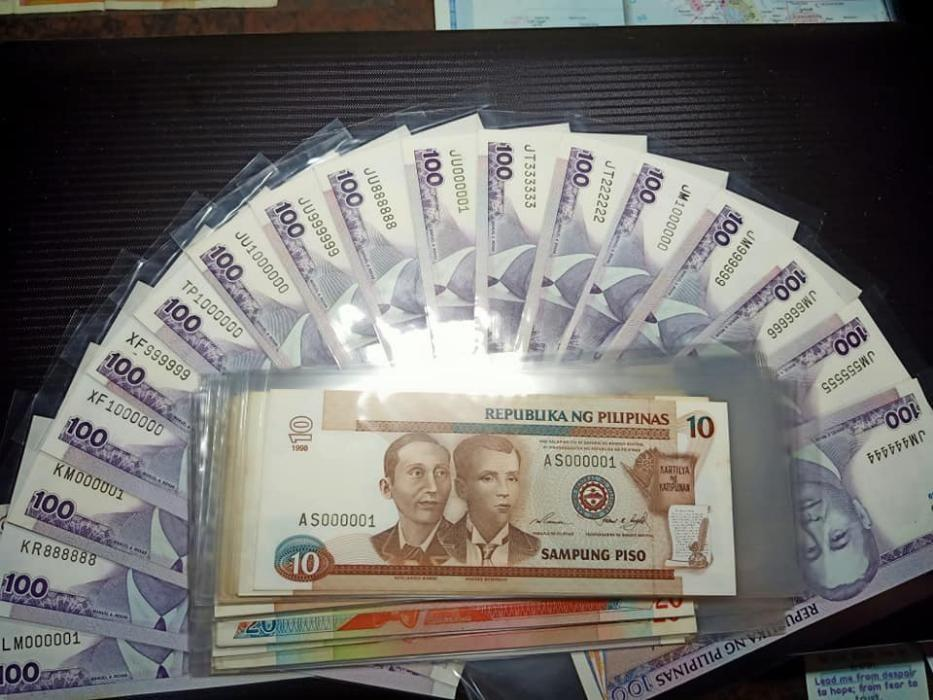 Philippine Solid and Fancy Serial Numbers Banknotes on Carousell
