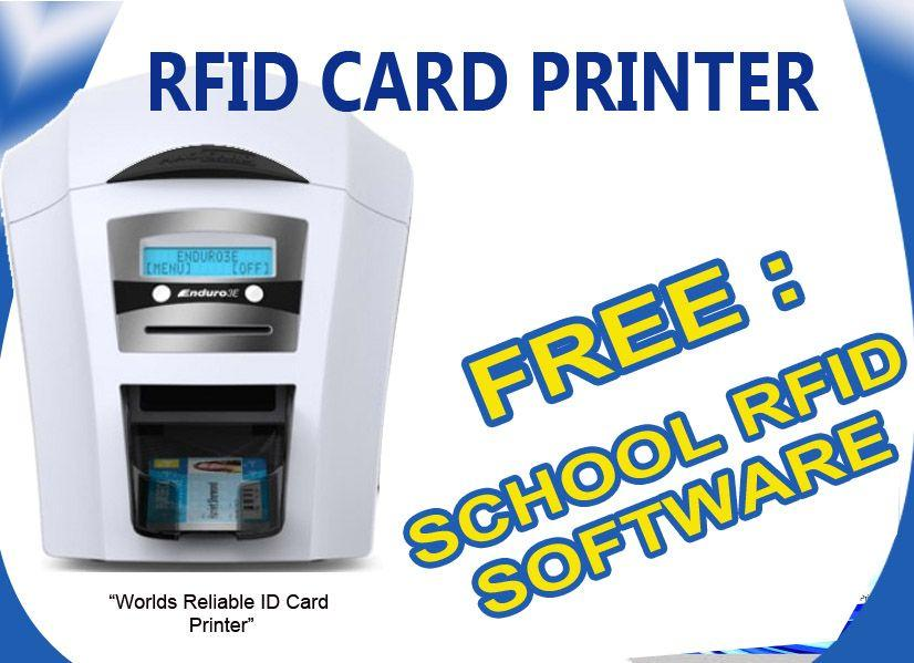 Rfid ID card Printer FREE Rfid Student Attendance Software