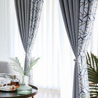Custom Made Nordic Abstract design Night curtain set