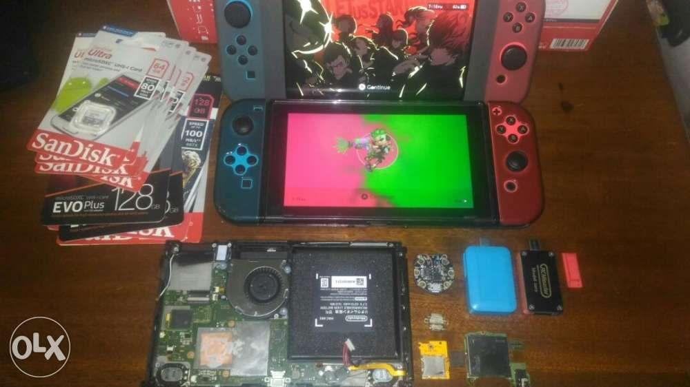 nintendo switch games repairs parts cfw on Carousell