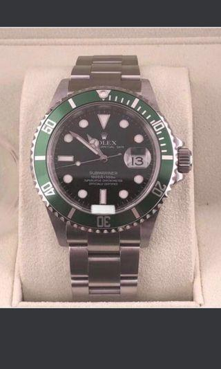 Rolex Submariner kermit 16610lv green