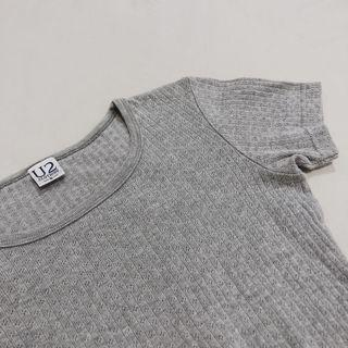 🚚 Vintage U2 Textured Heather Grey T-Shirt Blouse