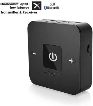🚚 Giveet aptX Low Latency Bluetooth Audio Transmitter Receiver for TV,