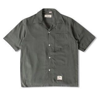 basic s/s sunday shirt olive shipyard elhaus