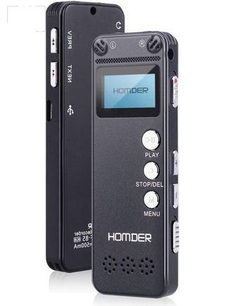 Digital Voice Recorder, Homder 8GB USB Professional Dictaphone Voice Recorder with MP3 Player,