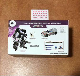 Transformers FM Transformable Metal Warrior (Masterpiece Samurai Series) (Diecast) - MP002 MP-002 Windrunner (aka Generations Drift) (MISB) plus One Free Autobot Dry Decal Sticker Sheet