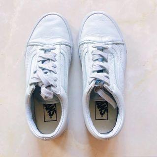 Vans Old Skool Trainers Pastel Blue Mono Leather Original