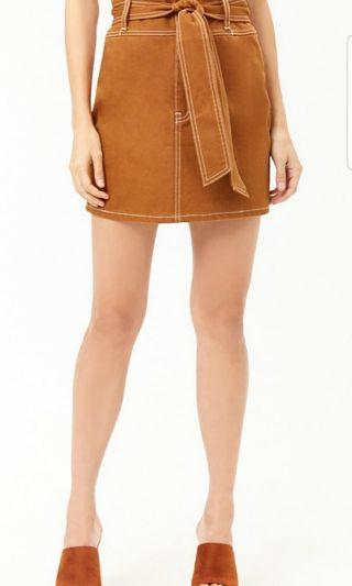 High Waist Mini Skirt with Belt BNWT