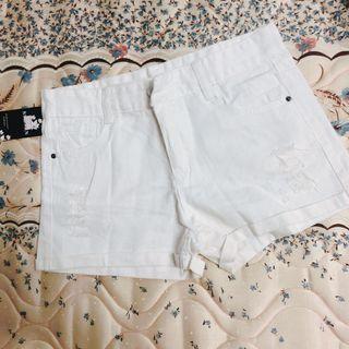 🚚 全新白色牛仔短褲