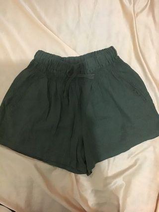 自出價!99%新軍綠色闊腳褲(可調節鬆緊!